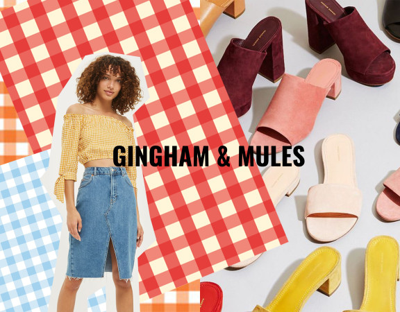 SS17 Trend Alert : Gingham and Mules